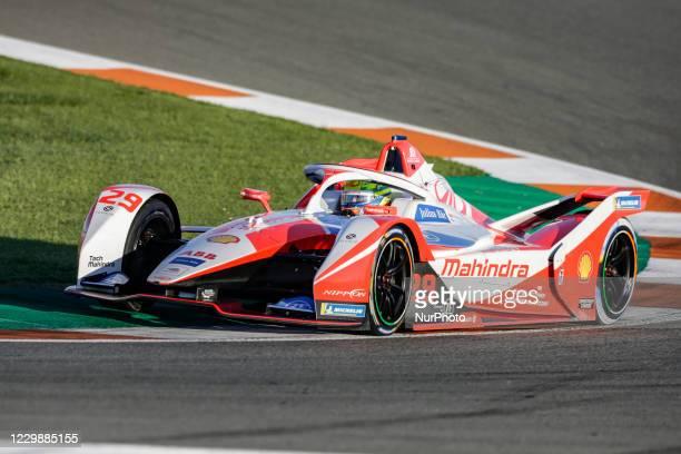 Alexander , Mahindra Racing, Mahinda M7Electro, action during the ABB Formula E Championship official pre-season test at Circuit Ricardo Tormo in...