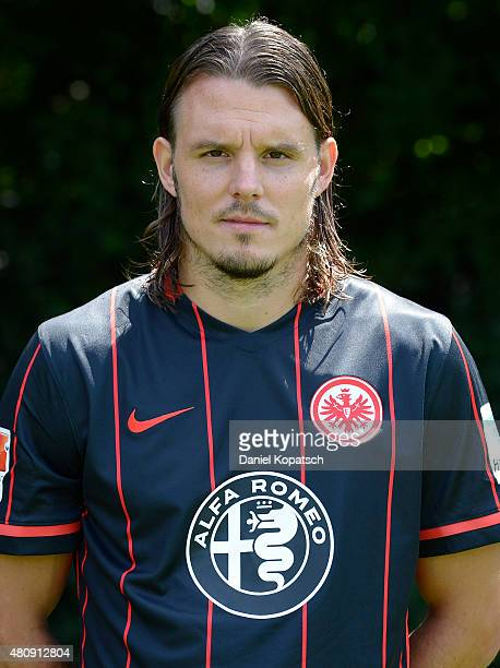 Alexander Maier poses during the Eintracht Frankfurt team presentation on July 15 2015 in Frankfurt am Main Germany