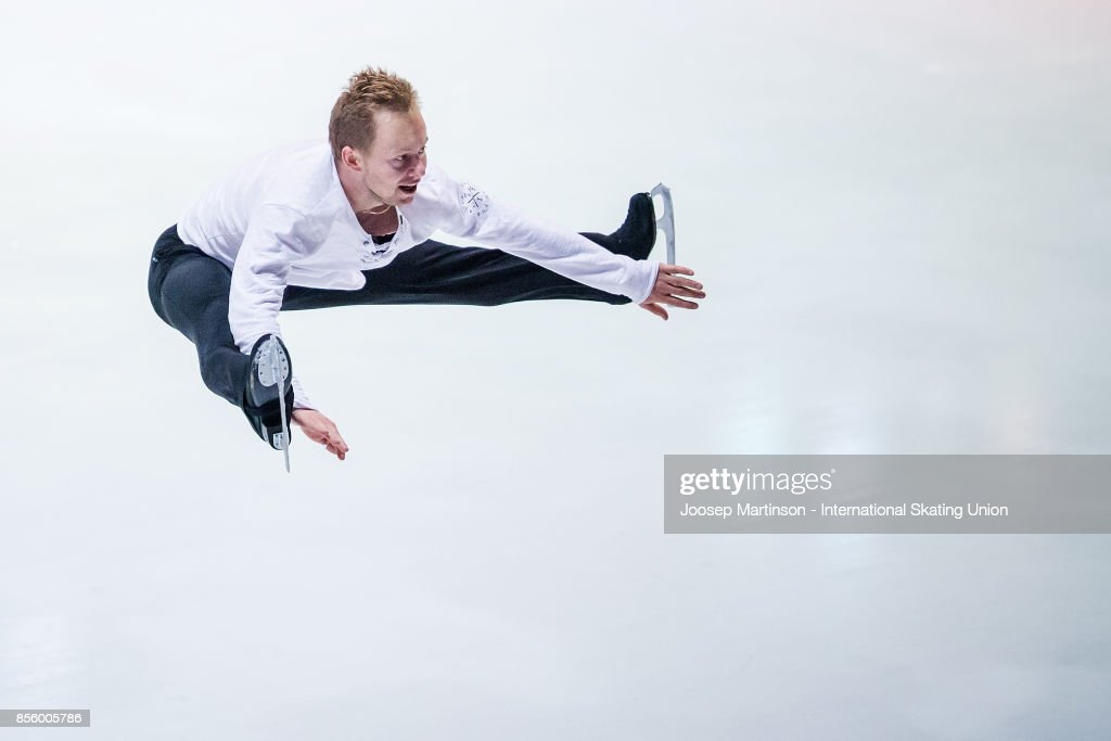Alexander Majorov of Sweden performs in the Gala Exhibition during the Nebelhorn Trophy 2017 at Eissportzentrum on September 30, 2017 in Oberstdorf, Germany.