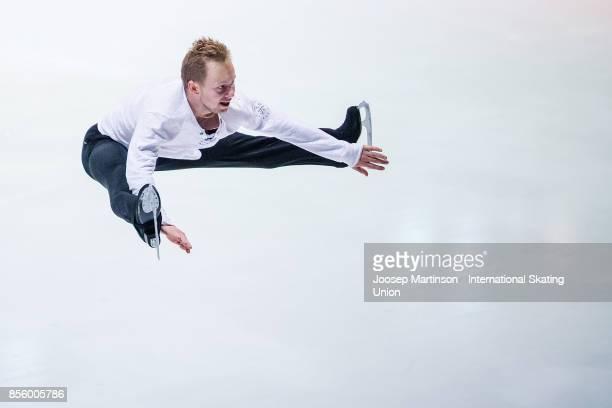 Alexander Majorov of Sweden performs in the Gala Exhibition during the Nebelhorn Trophy 2017 at Eissportzentrum on September 30 2017 in Oberstdorf...