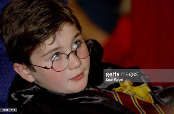 Alexander Marquart age 8 listens to personality's read aloud the new Harry Potter book 'Harry Potter and the Order of the Phoenix' at Aotea Centre...