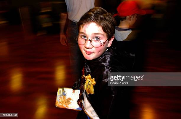 Alexander Marquart age 8 with his new Harry Potter book 'Harry Potter and the Order of the Phoenix' at Aotea Centre Saturday To mark the books launch...