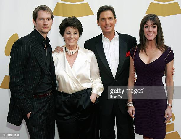 Alexander Martin, Gail Martin, Ricci Martin and Deana Martin arrive at The Recording Academy's Special Merit Awards Ceremony at Wilshire Ebell...