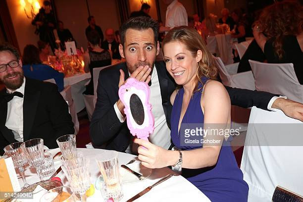 Alexander Mazza and Jule Goelsdorf during the PEOPLE Style Awards at Hotel Vier Jahreszeiten on March 7 2016 in Munich Germany