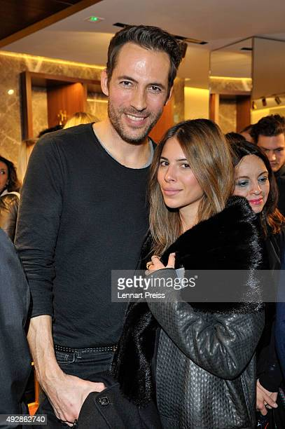 Alexander Mazza and Maja Weyhe attend the HOGAN flagship boutique opening on October 15 2015 in Munich Germany