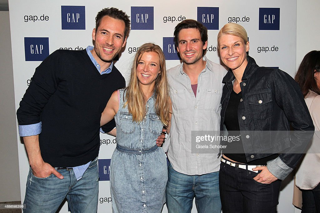 Alexander Mazza, Nina Eichinger, Tom Beck and Natascha Gruen attend the GAP Pop-Up Shop Opening on May 7, 2014 in Munich, Germany.