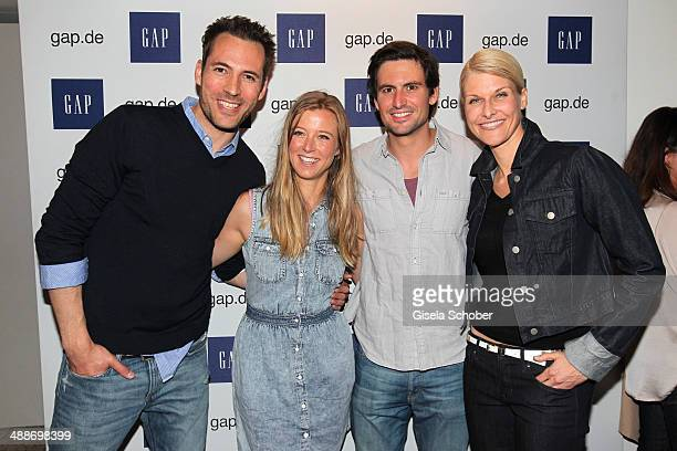 Alexander Mazza Nina Eichinger Tom Beck and Natascha Gruen attend the GAP PopUp Shop Opening on May 7 2014 in Munich Germany