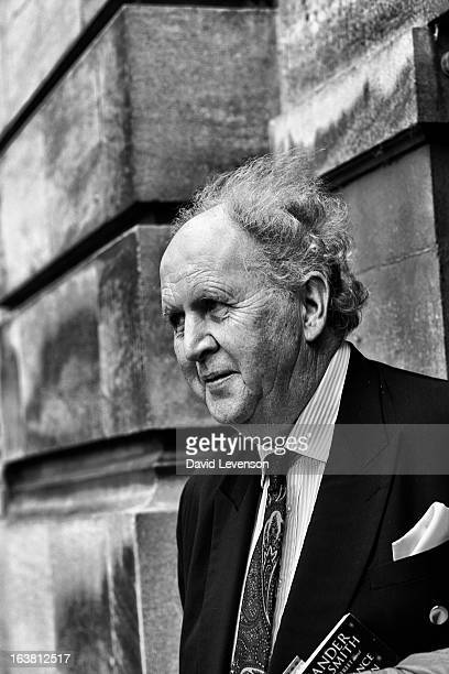 Alexander McCall Smith writer at the Sunday Times Oxford Literary Festival at Christ Church Oxford on March 16 2013 in Oxford England