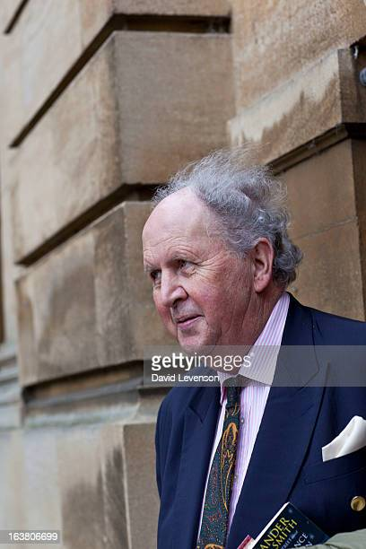 Alexander McCall Smith writer attends the Sunday Times Oxford Literary Festival at Christ Church Oxford on March 16 2013 in Oxford England