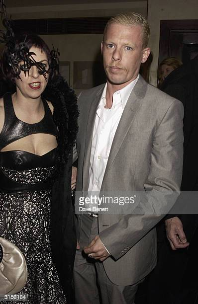 Alexander McQueen and Isabella Blow attend the Tatler Magazine Dinner Party at Floriana in Beauchamp Place on March 20 2003 in London