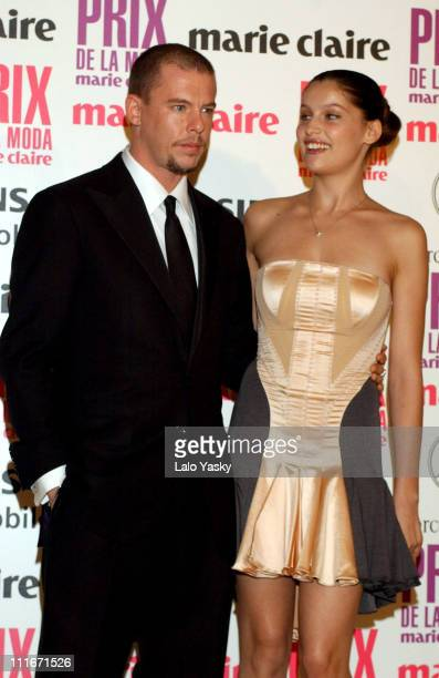 Alexander McQueen and Laetitia Casta during 1st Annual Marie Claire Fashion Awards at Residence of the French Ambassador in Madrid in Madrid Spain