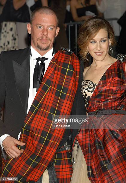 Alexander McQueen and Sarah Jessica Parker at the Metropolitan Museum of Art in New York City New York