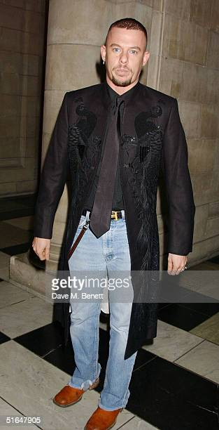 Alexander McQueen attends the British Fashion Awards 2004 at the Victoria and Albert Museum on November 2 2004 in London Run by the British Fashion...
