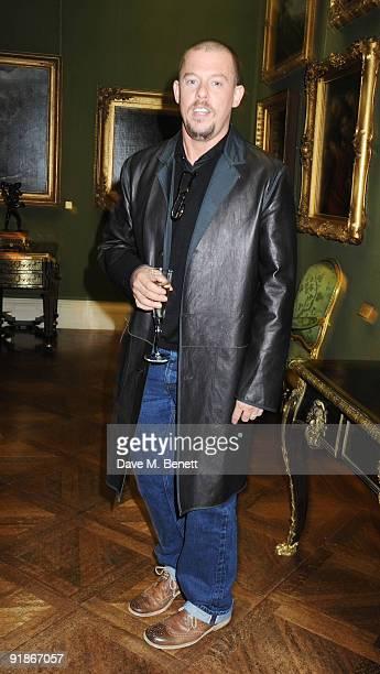 Alexander McQueen attends the Damien Hirst VIP dinner on October 13 2009 in London England