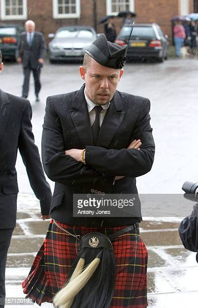 Alexander Mcqueen Attends The Funeral Of Fashion Stylist Isabella Blow Held At Gloucester Cathedral