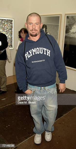Alexander McQueen attends the opening of the Frieze Art Fair at Regent's Park on October 11 2006 in London England