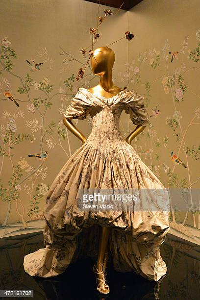 Alexander McQueen fall/winter 200607 dress on display at 'China Through The Looking Glass' Costume Institute Benefit Gala Press Preview at...