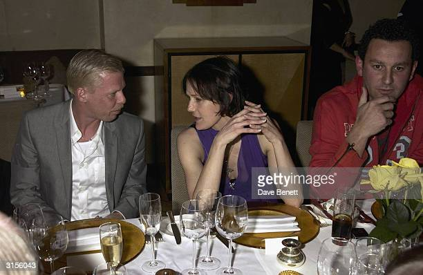 Alexander McQueen Lucy Ferry and Duncan Ray attend the Tatler Magazine Dinner Party at Floriana in Beauchamp Place on March 20 2003 in London