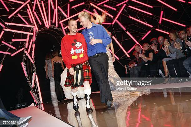 Alexander McQueen walks the catwalk at his readytowear collection show spring summer 2008 at POPB on October 5 2007 in Paris France