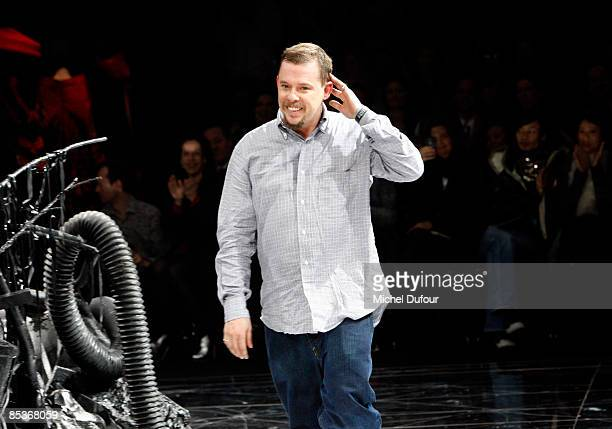 Alexander McQueen walks the runway at the Alexander McQueen ReadytoWear A/W 2009 fashion show during Paris Fashion Week at POPB on March 10 2009 in...