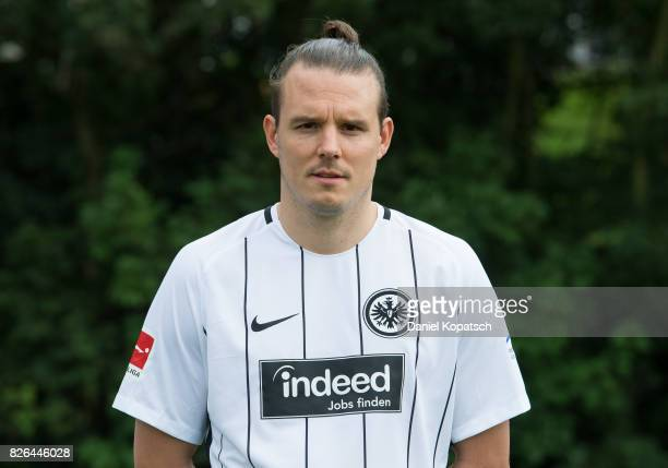 Alexander Meier of Eintracht Frankfurt poses during the team presentation at on August 4 2017 in Frankfurt am Main Germany