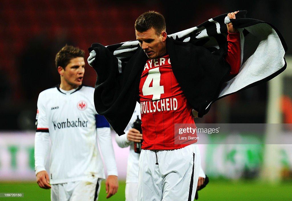 Alexander Meier of Frankfurt looks dejected after loosing the Bundesliga match between Bayer 04 Leverkusen and Eintracht Frankfurt at BayArena on January 19, 2013 in Leverkusen, Germany.