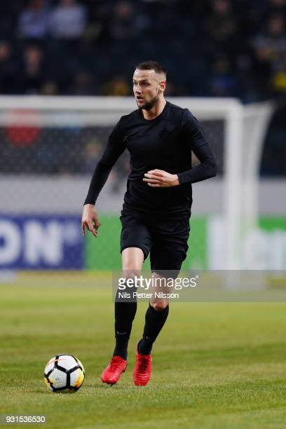 Alexander Milosevic of AIK during the Swedish Cup Quarterfinal between AIK and Orebro SK at Friends arena on March 13 2018 in Solna Sweden