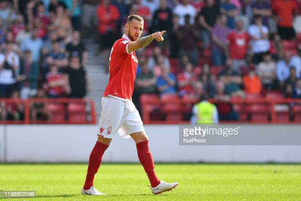 Alexander Milosevic of Nottingham Forest during the Sky Bet Championship match between Nottingham Forest and Middlesbrough at the City Ground,...