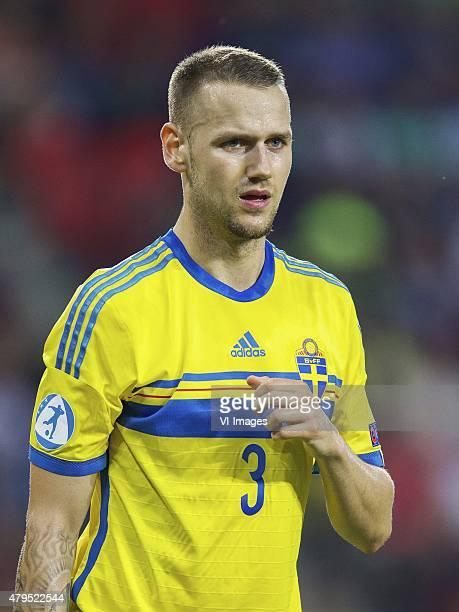 Alexander Milosevic of Sweden during the UEFA European Under21 Championship final match between Sweden and Portugal on June 30 2015 at the Eden...