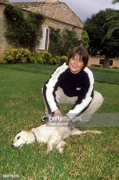 Alexander mit Hund Jetta Insel Mallorca am Balearen Spanien
