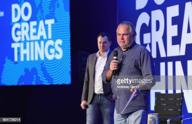 Alexander Moiseev Chief Business Officer and Eugene Kaspersky Chief Executive Officer attend the Kaspersky Lab European Strategic Session on March 19...