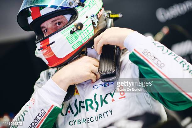 Alexander Moiseev Chief Business Officer at Kaspersky Lab is seen during the Italian GT Endurance Championship race in Monza Kaspersky Lab sponsors...