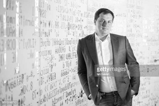 Alexander MoiseevCBO of Kaspersky Lab poses on February 11 2018 in Moscow Russia