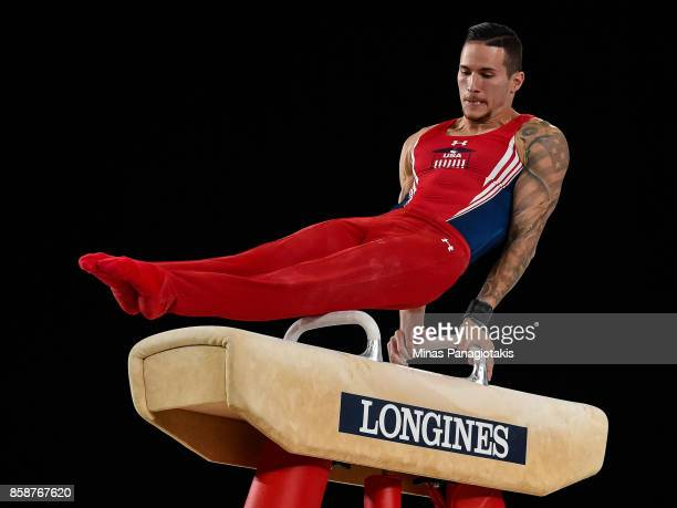 Alexander Naddour of The United States of America competes on the pommel horse during the individual apparatus finals of the Artistic Gymnastics...