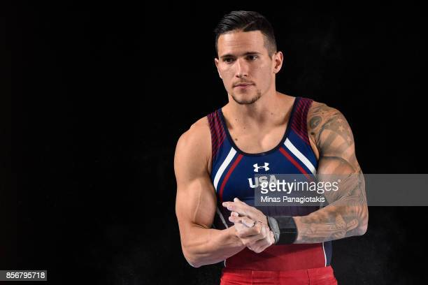 Alexander Naddour of the United States prepares to compete on the pommel horse during day one of the Artistic Gymnastics World Championships on...