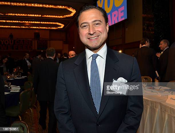 Alexander Navab cohead of North American private equity at Kohlberg Kravis Roberts Co LP stands for a photograph during the UJAFederation of New York...