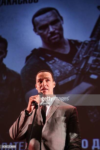 Alexander Nevsky attends 'Showdown in Manila' premiere in October cinema hall on February 9 2016 in Moscow Russia