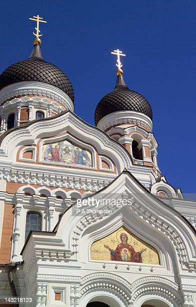 alexander nevsky cathedral orthodox, tallinn, estonia - harjumaa stock pictures, royalty-free photos & images
