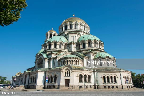 alexander nevsky cathedral, sofia, bulgaria - bulgaria stock pictures, royalty-free photos & images