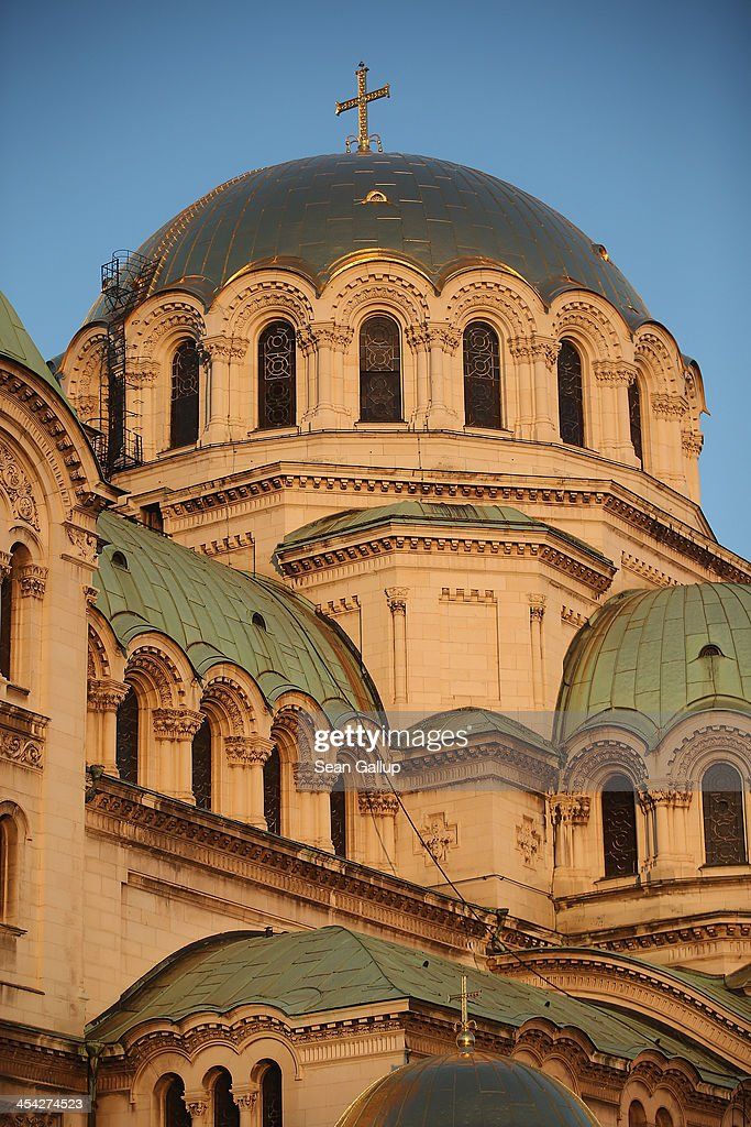 Alexander Nevsky Cathedral stands December 5, 2013 in Sofia, Bulgaria. Sofia is becoming an increasingly popular tourit destination.