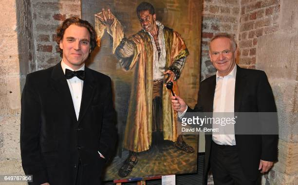 Alexander Newley and Jeffrey Archer attend the St MartinintheFields Gala Dinner and auction of Alexander Newley portraits on March 8 2017 in London...