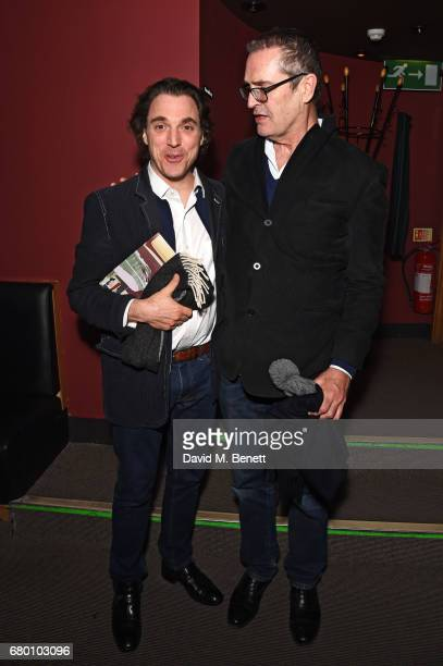 Alexander Newley and Rupert Everett attend as Nicky Haslam performs his new cabaret show 'Wherever There's Love' at The Pheasantry on May 7 2017 in...