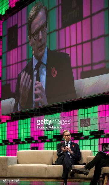 Alexander Nix CEO Cambridge Analytica answers Matthew Freud Founder and Chairman Freuds questions about 'From Mad Men to Math Men' during the final...
