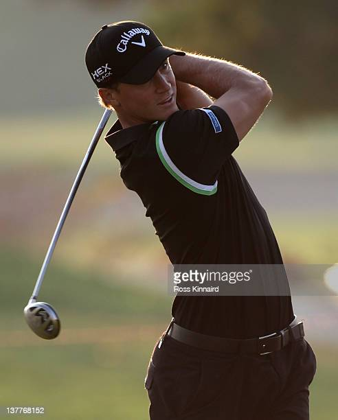 Alexander Noren of Sweden during the first round of Abu Dhabi HSBC Golf Championship at the Abu Dhabi HSBC Golf Championship on January 26 2012 in...