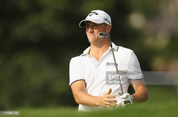 Alexander Noren of Sweden in action during day three of the Maybank Malaysian Open at Kuala Lumpur Golf Country Club on April 16 2011 in Kuala Lumpur...