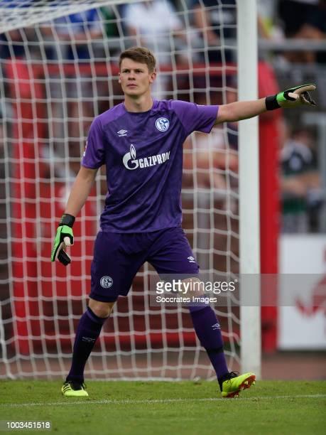 Alexander Nubel of Schalke 04 during the Club Friendly match between Schalke 04 v Schwarz Weiss Essen at the Uhlenkrugstadion on July 21 2018 in...