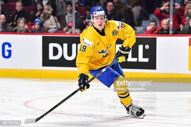 Alexander Nylander of Team Sweden skates during the 2017 IIHF World Junior Championship preliminary round game against Team Switzerland at the Bell...