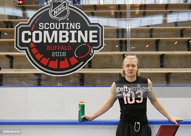 Alexander Nylander waits to be tested before the NHL Combine at HarborCenter on June 4 2016 in Buffalo New York