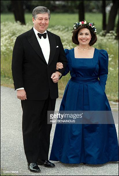 Alexander od Yugoslavia and Princess Katherine in Sweden on June 18 2001
