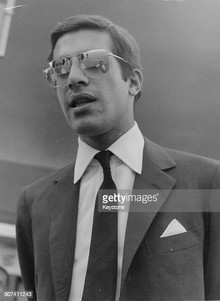Alexander Onassis son of ship owner Aristotle at an airport circa 1970